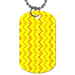 Yellow Background Abstract Dog Tag (one Side)