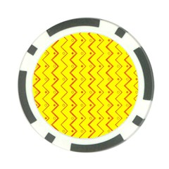 Yellow Background Abstract Poker Chip Card Guard (10 Pack)
