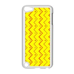 Yellow Background Abstract Apple Ipod Touch 5 Case (white)