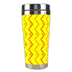 Yellow Background Abstract Stainless Steel Travel Tumblers