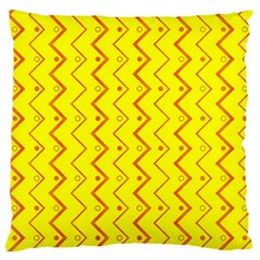 Yellow Background Abstract Large Flano Cushion Case (one Side)