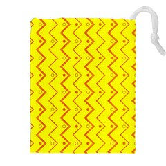 Yellow Background Abstract Drawstring Pouches (xxl)