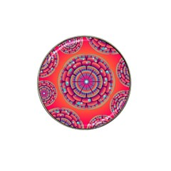 Floral Background Texture Pink Hat Clip Ball Marker (10 Pack)