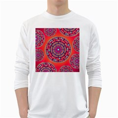 Floral Background Texture Pink White Long Sleeve T Shirts
