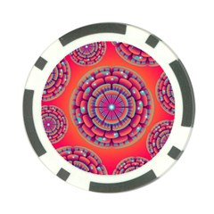 Floral Background Texture Pink Poker Chip Card Guard (10 Pack)