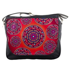 Floral Background Texture Pink Messenger Bags
