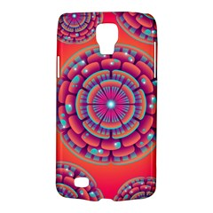 Floral Background Texture Pink Samsung Galaxy S4 Active (i9295) Hardshell Case