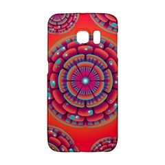 Floral Background Texture Pink Samsung Galaxy S6 Edge Hardshell Case