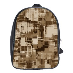 Color Abstract Background Textures School Bag (xl)
