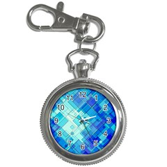 Abstract Squares Arrangement Key Chain Watches
