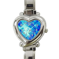 Abstract Squares Arrangement Heart Italian Charm Watch
