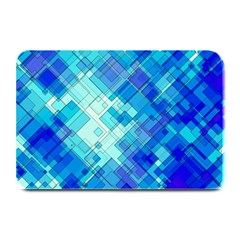 Abstract Squares Arrangement Plate Mats