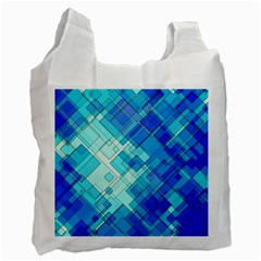 Abstract Squares Arrangement Recycle Bag (two Side)