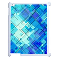 Abstract Squares Arrangement Apple Ipad 2 Case (white)