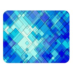 Abstract Squares Arrangement Double Sided Flano Blanket (large)