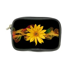 Sun Flower Blossom Bloom Particles Coin Purse by Nexatart