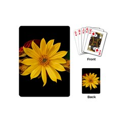 Sun Flower Blossom Bloom Particles Playing Cards (mini)