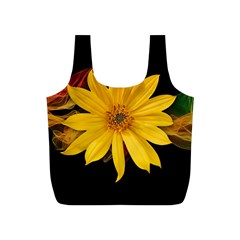 Sun Flower Blossom Bloom Particles Full Print Recycle Bags (s)