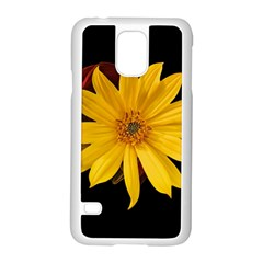 Sun Flower Blossom Bloom Particles Samsung Galaxy S5 Case (white) by Nexatart