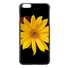 Sun Flower Blossom Bloom Particles Apple Iphone 6 Plus/6s Plus Black Enamel Case