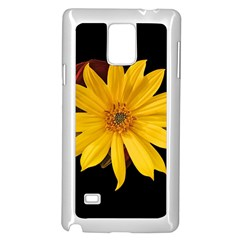 Sun Flower Blossom Bloom Particles Samsung Galaxy Note 4 Case (white)