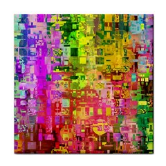 Color Abstract Artifact Pixel Tile Coasters