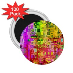 Color Abstract Artifact Pixel 2 25  Magnets (100 Pack)