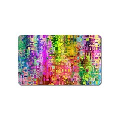 Color Abstract Artifact Pixel Magnet (name Card)