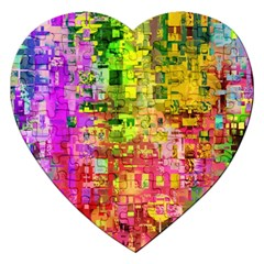 Color Abstract Artifact Pixel Jigsaw Puzzle (heart)