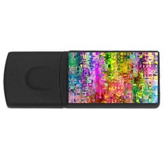 Color Abstract Artifact Pixel Rectangular Usb Flash Drive