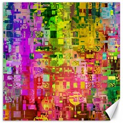 Color Abstract Artifact Pixel Canvas 20  X 20