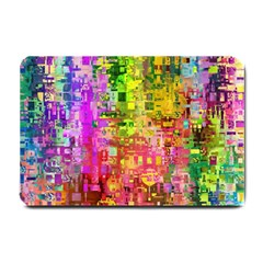 Color Abstract Artifact Pixel Small Doormat