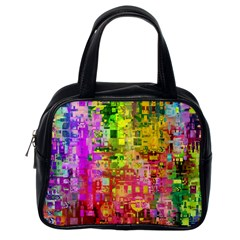 Color Abstract Artifact Pixel Classic Handbags (one Side)