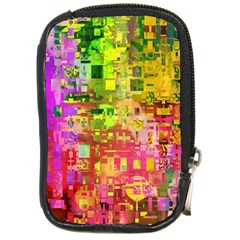 Color Abstract Artifact Pixel Compact Camera Cases by Nexatart