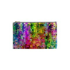 Color Abstract Artifact Pixel Cosmetic Bag (small)