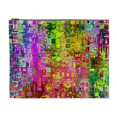 Color Abstract Artifact Pixel Cosmetic Bag (xl)