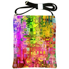 Color Abstract Artifact Pixel Shoulder Sling Bags