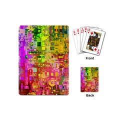 Color Abstract Artifact Pixel Playing Cards (mini)