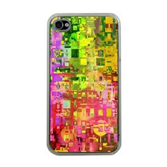 Color Abstract Artifact Pixel Apple Iphone 4 Case (clear)