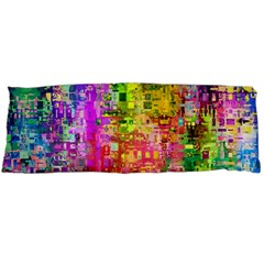 Color Abstract Artifact Pixel Body Pillow Case (dakimakura) by Nexatart