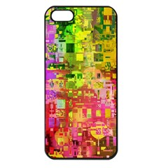 Color Abstract Artifact Pixel Apple Iphone 5 Seamless Case (black) by Nexatart