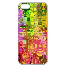 Color Abstract Artifact Pixel Apple Seamless Iphone 5 Case (clear)