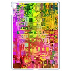 Color Abstract Artifact Pixel Apple Ipad Pro 9 7   White Seamless Case