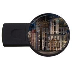 Architecture City Home Window Usb Flash Drive Round (4 Gb)
