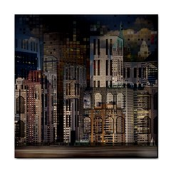 Architecture City Home Window Face Towel