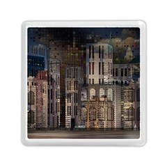 Architecture City Home Window Memory Card Reader (square)