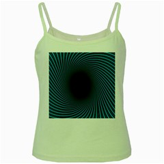 Background Spiral Abstract Pattern Green Spaghetti Tank