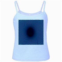 Background Spiral Abstract Pattern Baby Blue Spaghetti Tank
