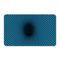Background Spiral Abstract Pattern Magnet (rectangular)