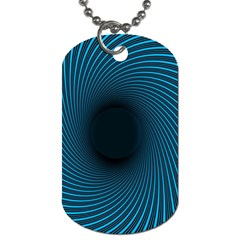 Background Spiral Abstract Pattern Dog Tag (one Side) by Nexatart